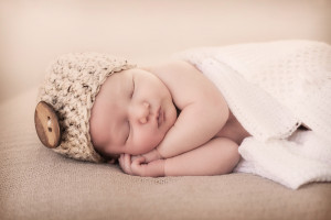 closeup of a little newborn baby girl