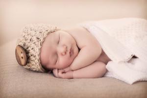 closeup of a little newborn baby girl