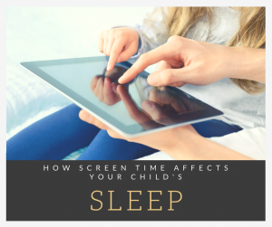 Screen time child sleep
