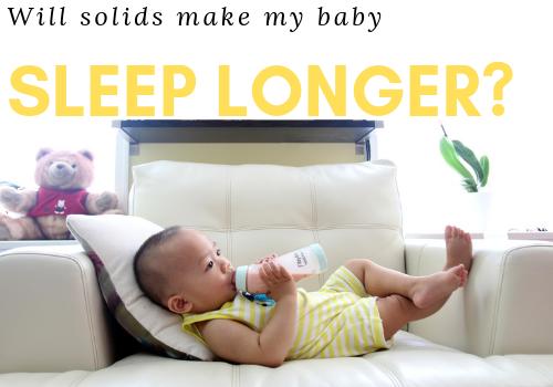Solids Baby Sleep